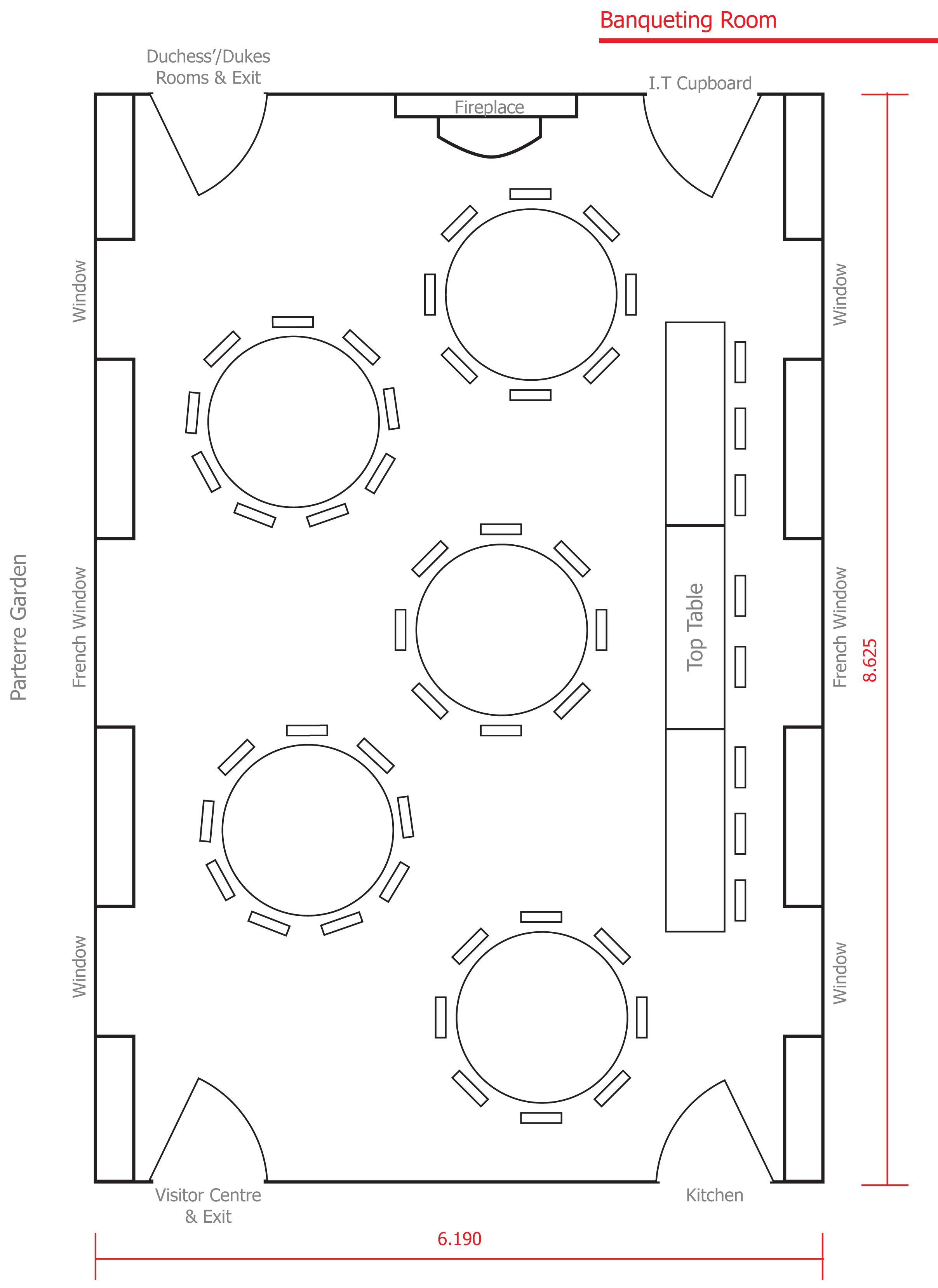 Chatelherault Country Park wedding table layout 1.