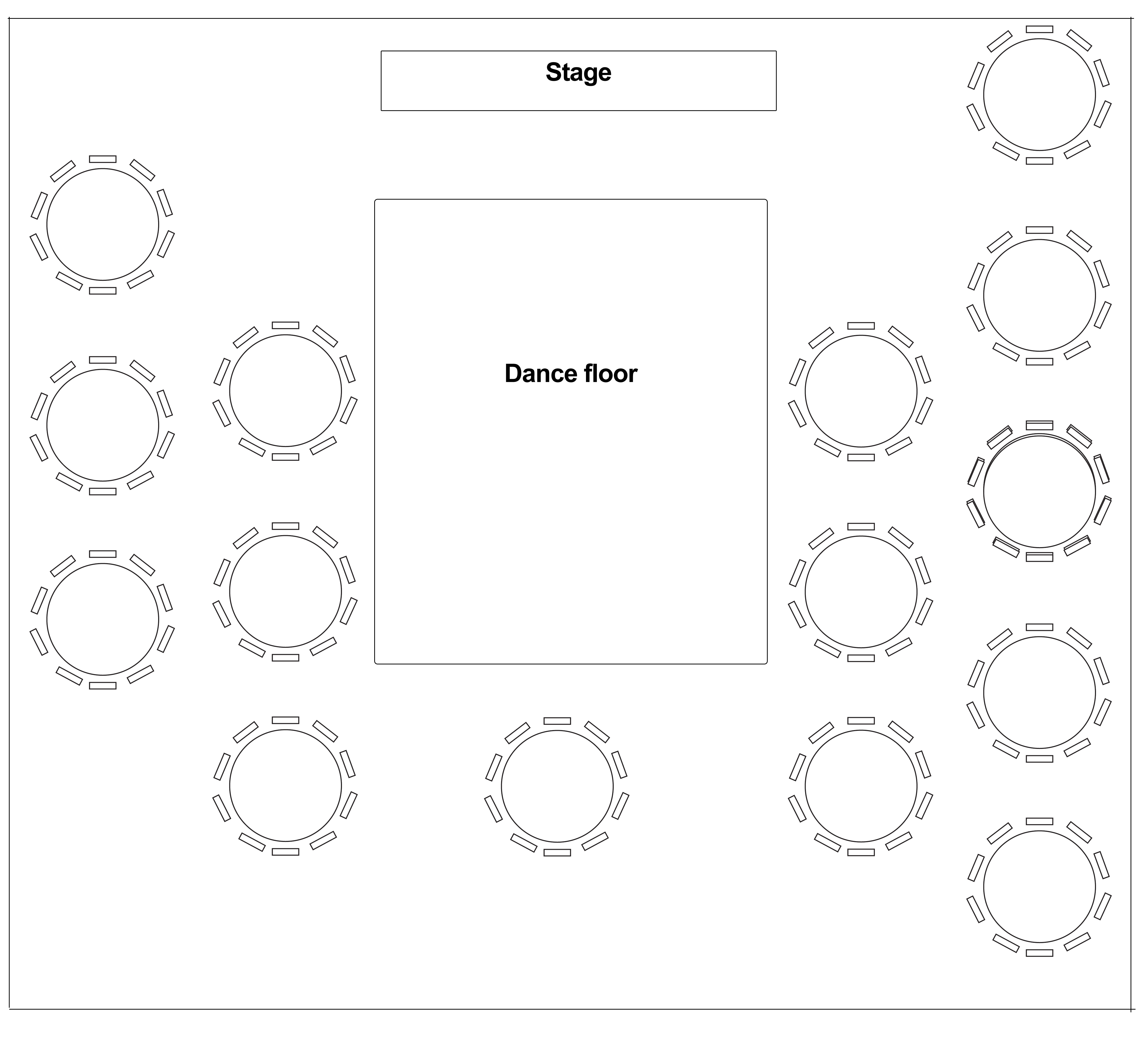 The Town House, Hamilton wedding table layout 3